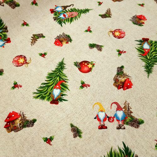 Karácsonyi manók az erdőben - dekorvászon
