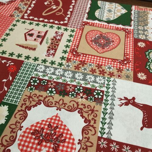 Karácsonyi patchworkmintás dekorvászon