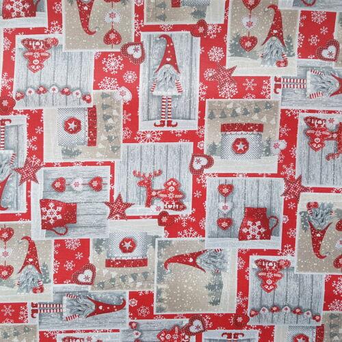 Karácsonyi impregnált vászon - manós