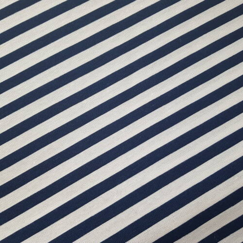 Kék - fehér csíkos dekorvászon