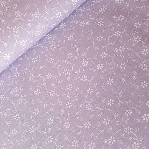 Kékfestő mintás pamutvászon - lila alapon