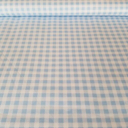 Kék kockás pamutvászon - 3 mm