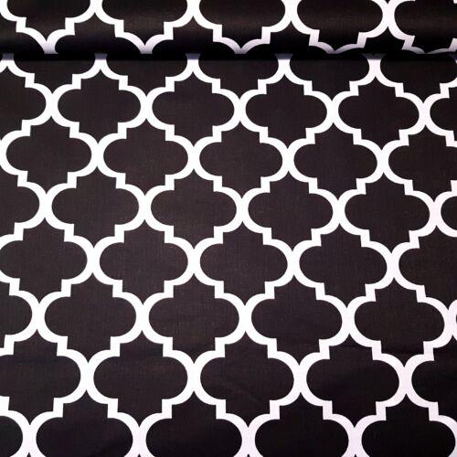 Fekete kerítés mintás pamutvászon (160 cm)