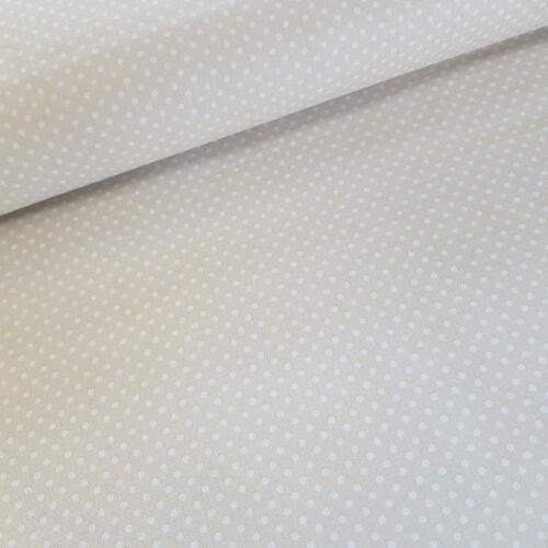 Krém alapon pöttyös pamutvászon ( 2 mm )