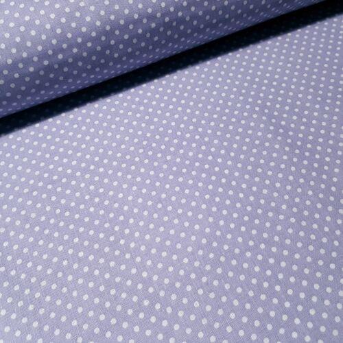 Levendulalila alapon pöttyös pamutvászon ( 2 mm )