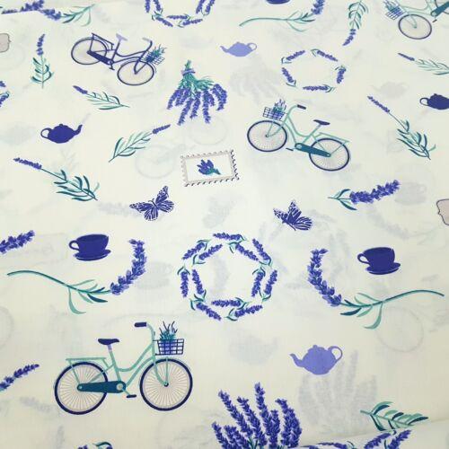 levendulás-biciklis pamutvászon