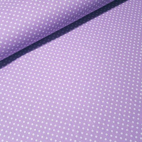 Levendulalila alapon pöttyös pamutvászon ( 3 mm )