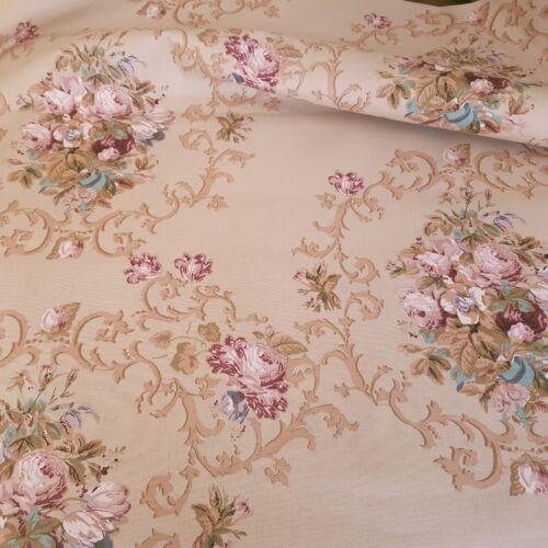 Mályva virágos vastag pamutvászon (reneszánsz stílusú)