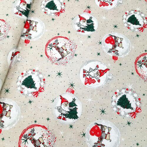 Manó és rénszarvas karácsonyfadíszen - dekorvászon