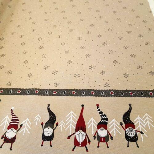 Manós - hópelyhes karácsonyi dekorvászon - bordürös