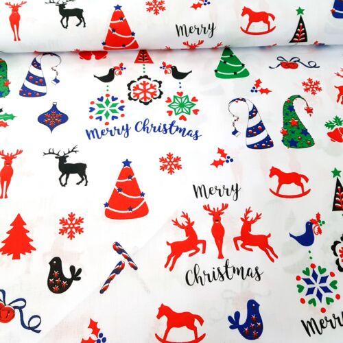 Merry Christmas pamutvászon (160 cm)