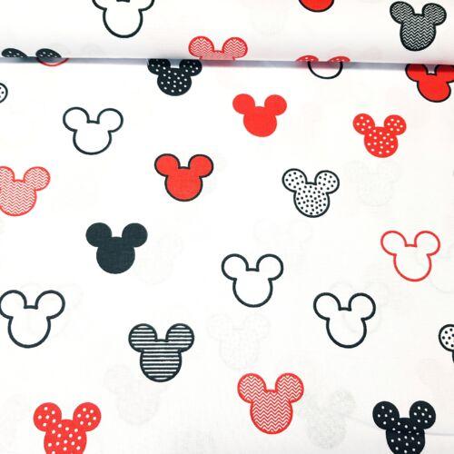 Mickeys pamutvászon - piros (160 cm)