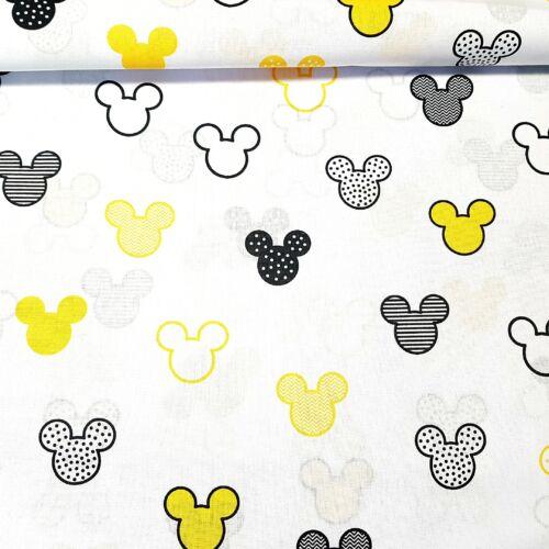 Mickeys pamutvászon - sárga (160 cm)