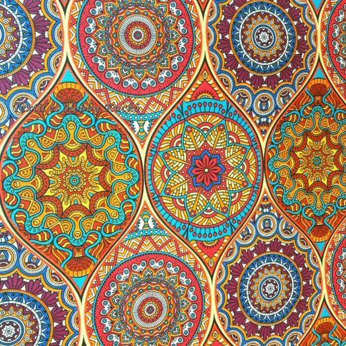 Molly színes mandalás dekortextil