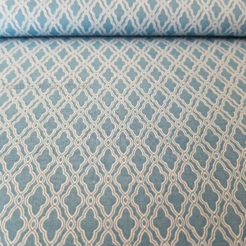 Mozaik mintás pamutvászon - kék