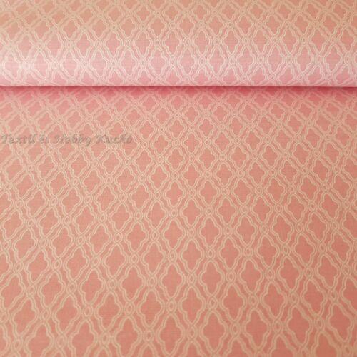 Mozaik mintás pamutvászon rózsaszín