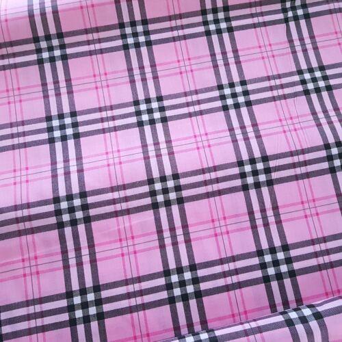 Farmer-rózsaszín négyzetrácsos pamutvászon