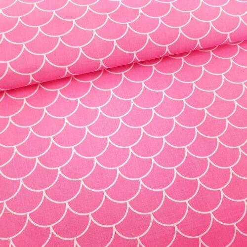 Pikkelyes pamutvászon rózsaszín (160 cm)