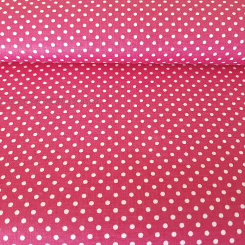 Pink alapon pöttyös pamutvászon (2mm)