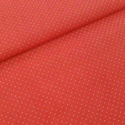 Piros alapon tűpöttyös pamutvászon