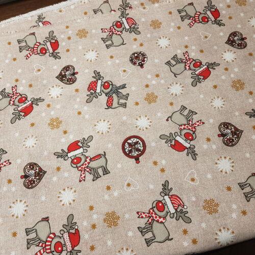 Rénszarvasos karácsonyi dekorvászon