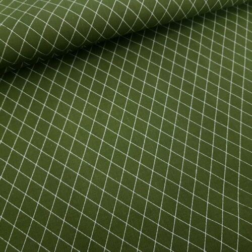 Rombusz mintás pamutvászon Khaki (160 cm)