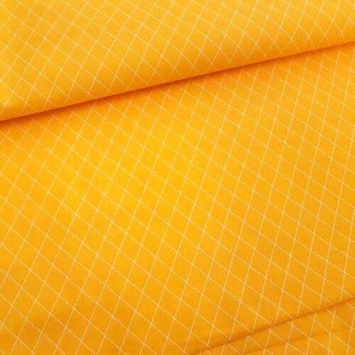 Rombusz mintás pamutvászon Napsárga (160 cm)