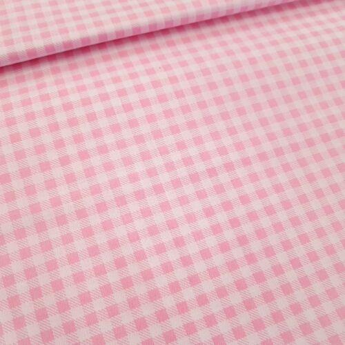 Rózsaszín kockás pamutvászon 5 mm