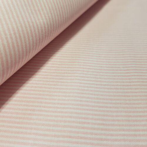 Rózsaszín csíkos pamutvászon - 1 mm