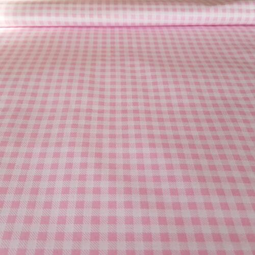 Rózsaszín kockás pamutvászon 3mm