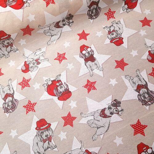 Star Dogs - Kutya, csillag mintás dekorvászon
