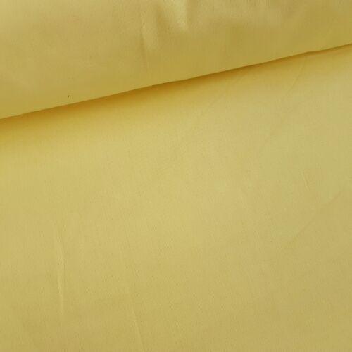 Vanília sárga pamutvászon - 160 cm