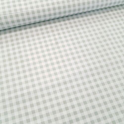 Szürke kockás pamutvászon - 5 mm