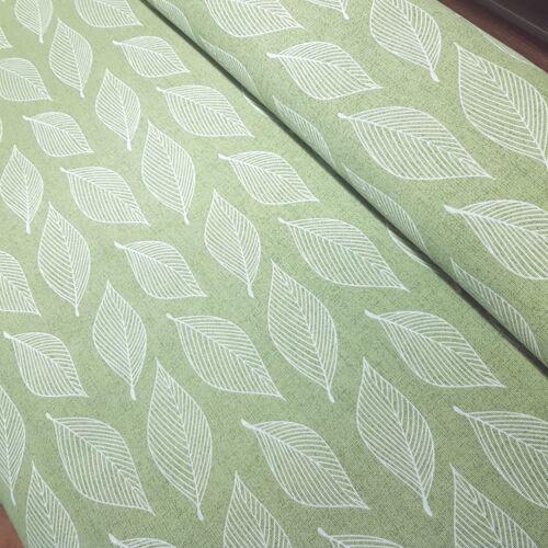 Zöld leveles dekorvászon